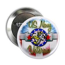 "US Navy Veteran Bumblebee Faded 2.25"" Button"
