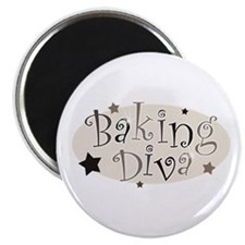 Baking Diva [brown] Magnet