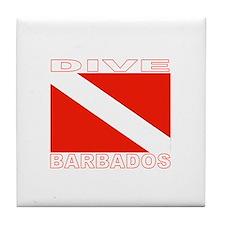 Dive Barbados Tile Coaster