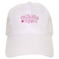 """Crocheting Diva"" [pink] Baseball Cap"