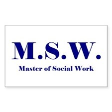 MSW (Design 2) Rectangle Decal