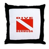 Dive Bermuda Throw Pillow