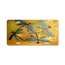 Dragonfly Haze Aluminum License Plate