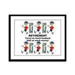 Retirement Framed Panel Print