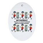 Retirement Oval Ornament