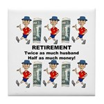 Retirement Tile Coaster