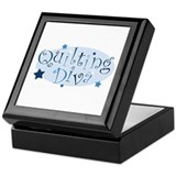 &quot;Quilting Diva&quot; [blue] Keepsake Box