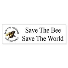Save The Bee Bumper Bumper Sticker