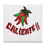 Caliente Chili Peppers Tile Coaster