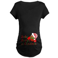 Baby bumps 1st Christmas Maternity T-Shirt