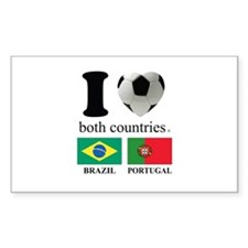 BRAZIL-PORTUGAL Decal