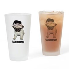 Bah Hum Pug Drinking Glass