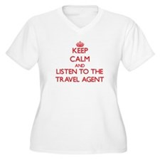Keep Calm and Listen to the Travel Agent Plus Size