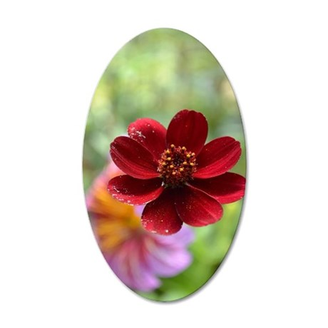 Red Beauty 35x21 Oval Wall Decal