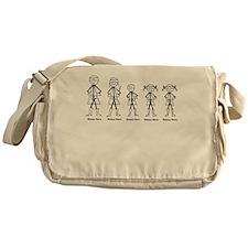 Super Family 1 Boy 2 Girls Messenger Bag