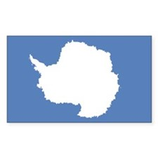 Antarctic flag (Antarctica) Rectangle Decal