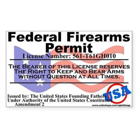 Federal Firearms Permit Sticker