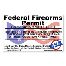 Federal Firearms Permit Decal