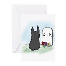 Rest in Peace Scottie Greeting Cards