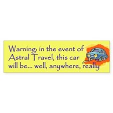 astral travel Bumper Bumper Sticker