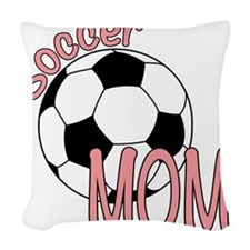 SOCCER MOM Woven Throw Pillow