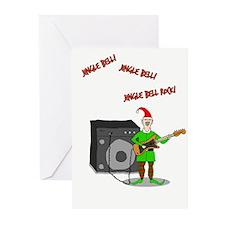 Rockin' Elf Greeting Cards (Pk Of 10)