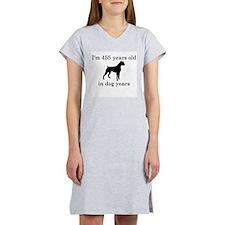 65 birthday dog years boxer Women's Nightshirt