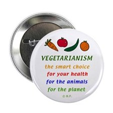 "Vegetarian 2.25"" Button"