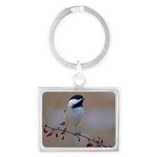 Chickadee On Limb 2 Landscape Keychain
