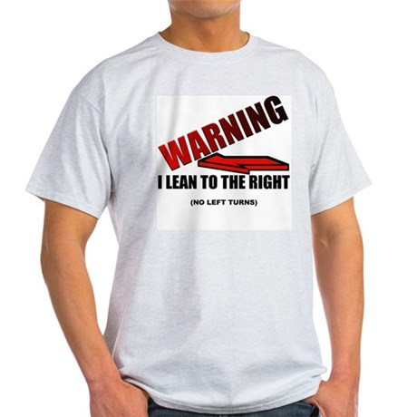 Warning I'm Conservative Ash Grey T-Shirt