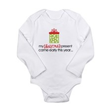 christmas present front Body Suit