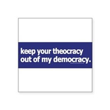 keepyourtheocracy1blue Sticker