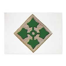 Fourth Infantry Div. 5'x7'Area Rug