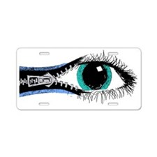 Eye Zipper Aluminum License Plate