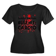 Rule #1  Women's Plus Size Dark Scoop Neck T-Shirt