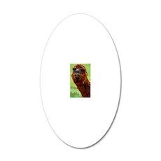 funny alpaca birthday 20x12 Oval Wall Decal