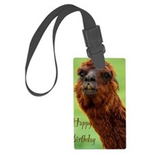 funny alpaca birthday Luggage Tag