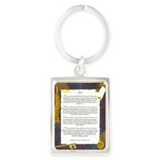 IF by Rudyard Kipling Portrait Keychain