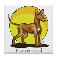 Pharaoh Hound Illustration Tile Coaster