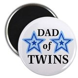 "Dad of Twins (Boys) 2.25"" Magnet (100 pack)"