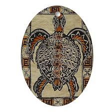 FIJI TURTLE Oval Ornament