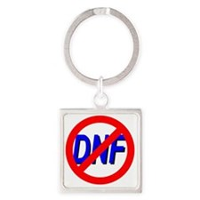 No DNF Square Keychain