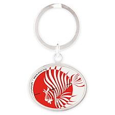 World Lionfish Hunters Association L Oval Keychain