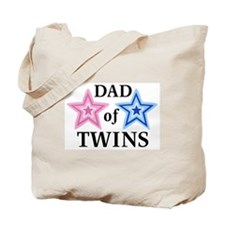 Dad of Twins (Girl, Boy) Tote Bag