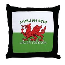 ...Cymru Am Byth... Throw Pillow