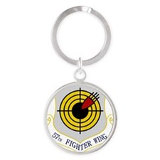 57th Fighter Wing Round Keychain