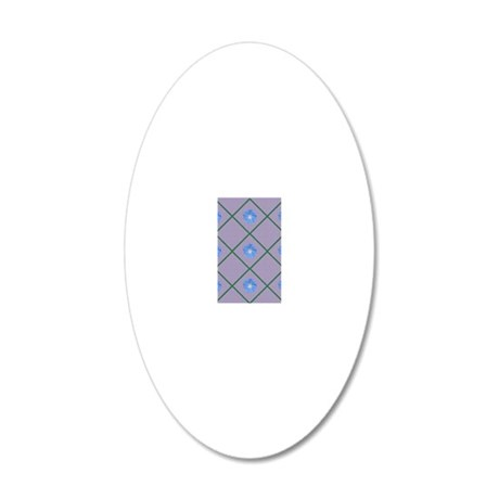 Morning glory 20x12 Oval Wall Decal