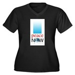 Peace Now Women's Plus Size V-Neck Dark T-Shirt