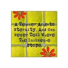 "retired teacher tiles blank Square Sticker 3"" x 3"""