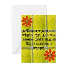 retired teacher tiles blanket 2 Greeting Card